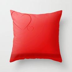 Heart Background Throw Pillow