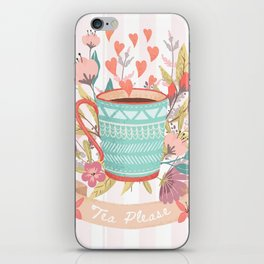 Tea Please, A Cup Of Tea Would Be Ever So Lovely iPhone Skin
