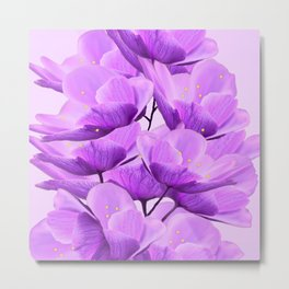 Violet Anemones Spring Atmosphere #decor #society6 #buyart Metal Print