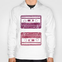 cassette Hoodies featuring Cassette by Brita A