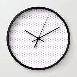 Small Hot Pink heart pattern Wall Clock