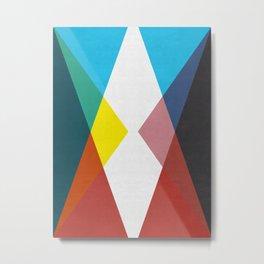 Colorful Triangles I Metal Print