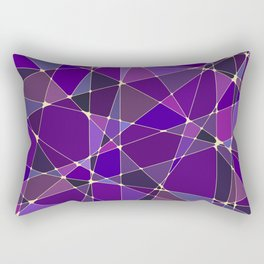 Constellation Purple Rectangular Pillow