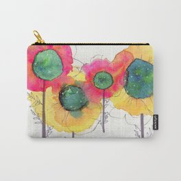 Galaxy Flowers Carry-All Pouch