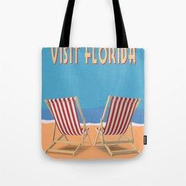 Florida Vintage Travel Poster Tote Bag