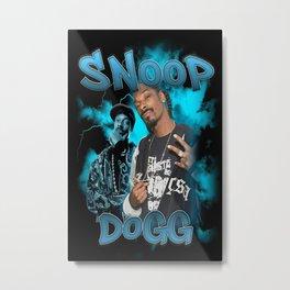 Snoop Dogg Vintage 90s bootleg Poster Tshirt Metal Print