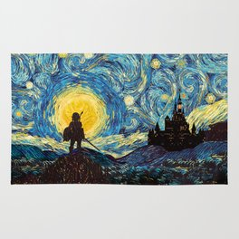 triforce warrior link starry night iPhone 4 5 6 7 8, pillow case, mugs and tshirt Rug