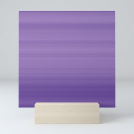 Ultra Violet Gradient Stripes Trendy Color of the year 2018 Mini Art Print