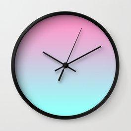 Rose Quartz and Aquamarine Wall Clock