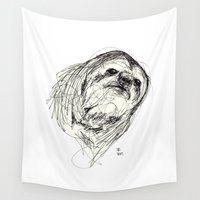 sloth Wall Tapestries featuring Sloth by Ursula Rodgers