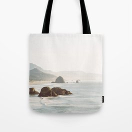 overlooking cannon beach Tote Bag