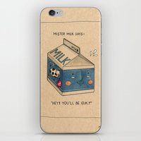 milk iPhone & iPod Skins featuring Milk by Felicia Chiao