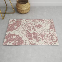 Oriental stylish pastel colors illustration pattern for home decoration Rug