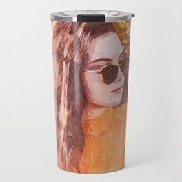 Woman Fall Travel Mug