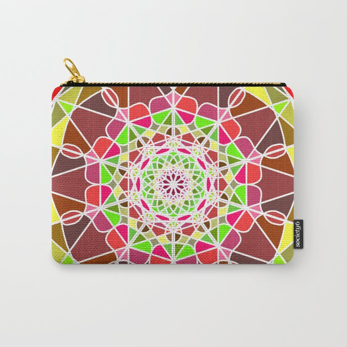 abstract colored detailed bright mandala Carry-All Pouch