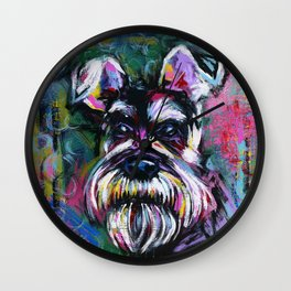 SCHOTZIE the SCHNAUZER Wall Clock