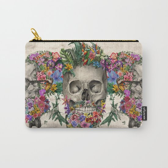 hipster floral skull Carry-All Pouch