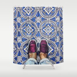 Art Beneath Our Feet - Ancona, Italy Shower Curtain