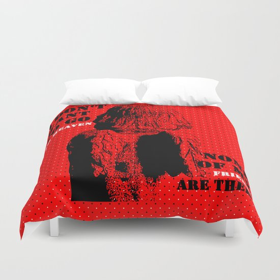 Oscar Wilde #7 I don't want to go to heaven Duvet Cover