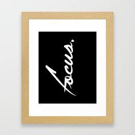 Focus - version 2 - white Framed Art Print
