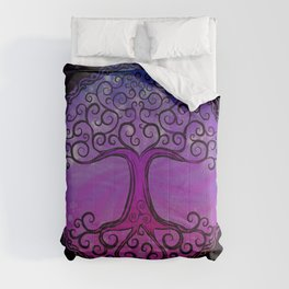 Tree of Life - Hot Pink Comforters
