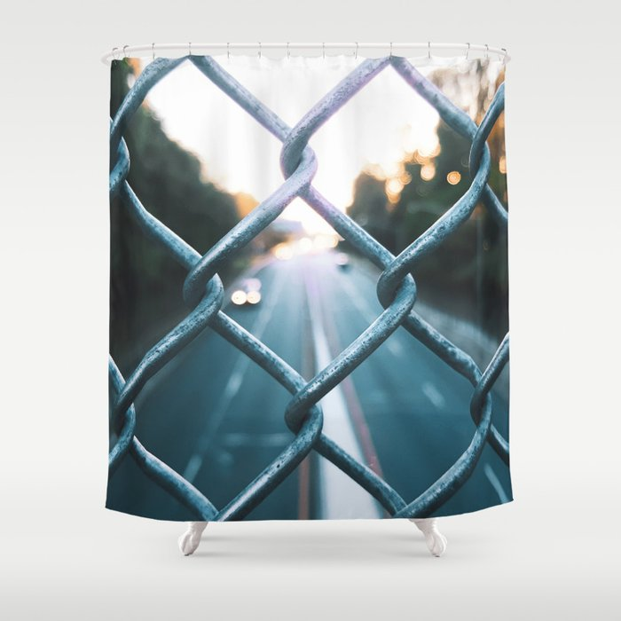 Metal grill Shower Curtain
