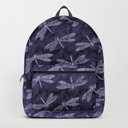 Purple Dragonfly Twighlight Dance Backpack