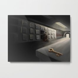 SCP-005 Skeleton key Metal Print
