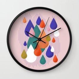 Colorful Raindrops Wall Clock