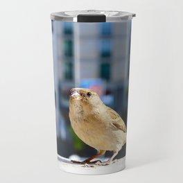 City Bird Lovely Sparrow Travel Mug