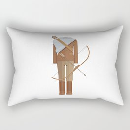 District Fighting Sci-Fi Film Costume Minimal Sticker Rectangular Pillow