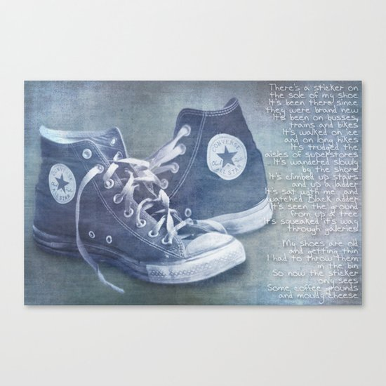 The sticker Canvas Print