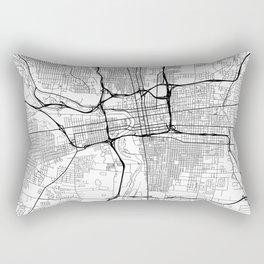 Columbus Map White Rectangular Pillow