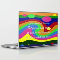 teacher Laptop & iPad Skins featuring art teacher by Maria Julia Bastias