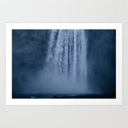 Winter at Skógafoss Art Print