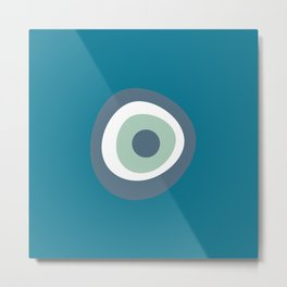 LUCKY EYE - BLUE Metal Print