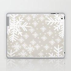 Grey Snowflake Design Laptop & iPad Skin