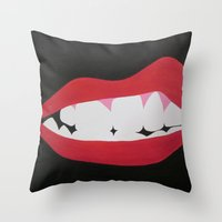 rocky horror Throw Pillows featuring Rocky Horror by kaylinicole