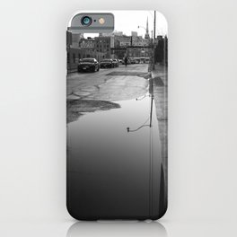 Old Toronto Urban drama in black and white iPhone Case