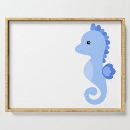 Seahorse cute vector illustration Serving Tray
