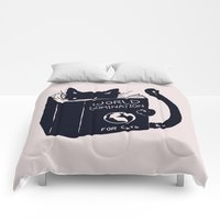 Comforters featuring World Domination For Cats by Tobe Fonseca