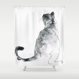 Cat at the Windowsill Shower Curtain