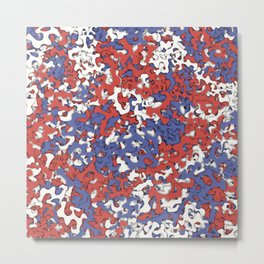 Red blue white camouflage Metal Print