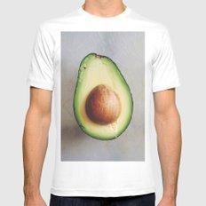 Avocado Love (3)  MEDIUM Mens Fitted Tee White