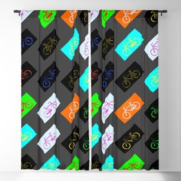 Gray bicycles Blackout Curtain