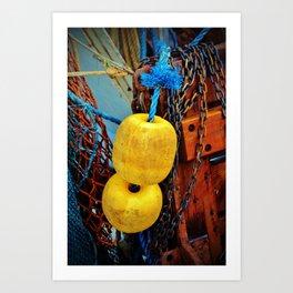 Yellow Buoys Art Print
