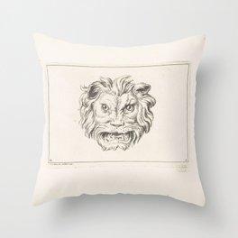 Growing Lion's Head, Bernard Picart, after Charles Le Brun, 1729 Throw Pillow