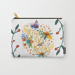 Read More Books - Floral Gold Carry-All Pouch