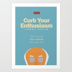 Curb Your Enthusiasm - Hbo tv Show with Larry David - Poster Art Print