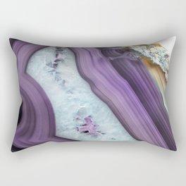 Purple Agate Slice Rectangular Pillow